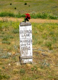 George Lane grave in Virginia City, Montana