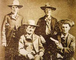 Sam Bass Gang, photo courtesy City of Roundrock, Tx and Robert G. McCubbin, Jr.