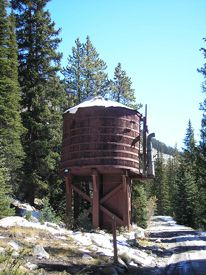 Alpine Pass Water Tank, by Kathy Weiser