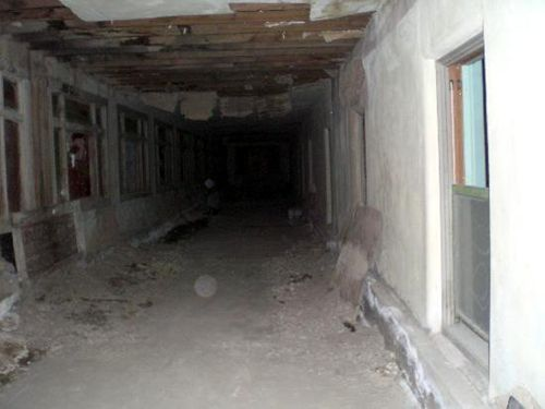 "The unfinished portion of the Amargosa Hotel is affectionately known as ""Spooky Hollow."""