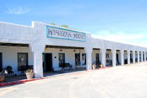 Armagosa Hotel, Death Valley Junction, California by Kathy Weiser