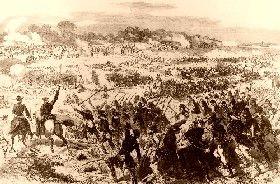 Battle of Malvern Hill, Virginia in the Civil War.