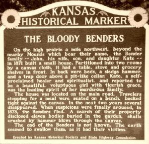 Bloody Benders Historical Marker