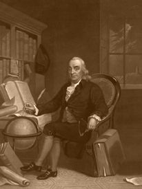 Benjamin Franklin, by Tompkins Harrison Matteson