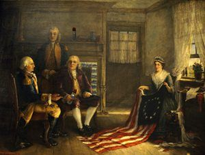Birth of our Nation's Flag by Charles Weisgerber, 1893