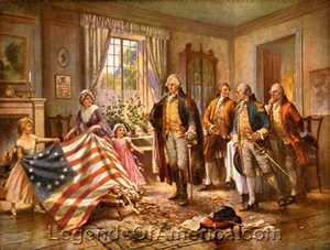 Birth of Old Glory, Percy Moran, 1917,