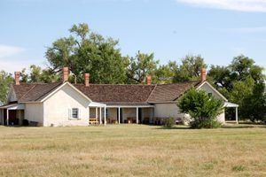 Prowers Home, Boggsville, Colorado by Kathy Weiser