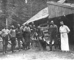 Miners in Buckskin Joe in the 1890's