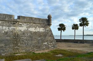 Castillo San Marcos Outer Wall by Kathy Weiser
