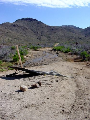 Old road in the Cerbat Mountains, Kathy Weiser.
