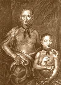 Yamacraw Indian Chief Tomo-chi-chi and nephew.