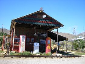 Old Gas Station in Chloride, Arizona