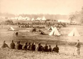 Confederate prisoners captured at Fishers Hill, Virginia