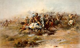 Custer Fight by Charles M. Russell, 1903