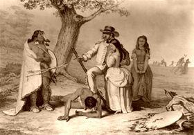 Daniel Boone rescuing his daughter