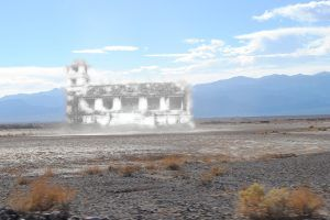 Castle Mirage, Death Valley, Digital composition by Kathy Weiser