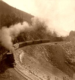 Denver and Rio Grande Railroad at Marshall Pass, 1898