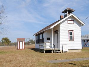 One room school in Elk Falls, Kansas by Kathy Weiser-Alexander