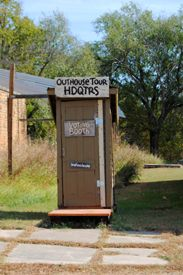 Outhouse Tour Voting Booth by Kathy Weiser