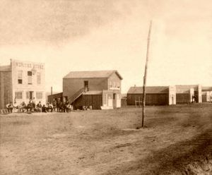 Ellsworth, Kansas Main Street, by Alexander Gardner, 1867