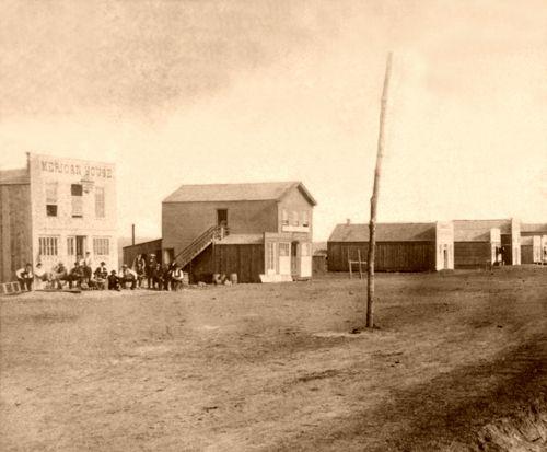 Ellsworth, Kansas Main Street, by Alexander Gardner, 1867
