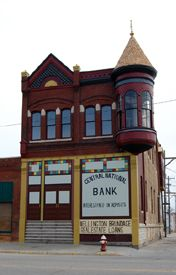 Old Bank building in Ellsworth, Kansas by Kathy Weiser
