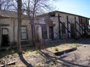 The Adobe Commercial Building once held a post office, a saloon, and a general store. Kathy Weiser, April, 2007.