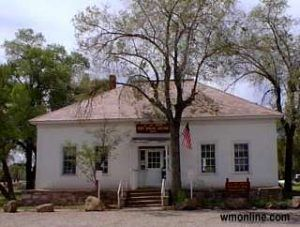 The old Fort Apache Adjutant's Office now serves as the post office, courtesy White Mountain Online