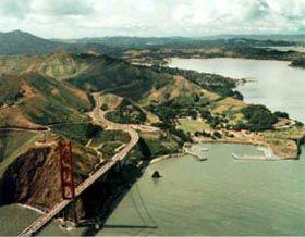 Aerial view of Fort Baker, California