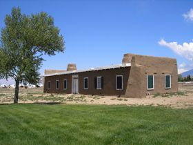 Fort Garland, Colorado Officers' Quarters by Kathy Weiser.