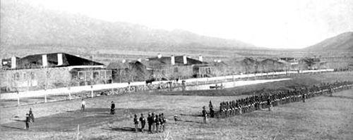 U.S. 10th Cavalry, at Fort Grant, Arizona, 1885