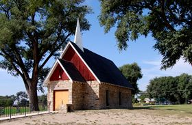 Fort Lyon, Colorado Kit Carson Memorial Chapel by Kathy Weiser.