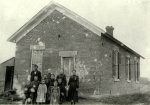 The Freeman School, sometime in the 1880's. Photo courtesy National Park Service.