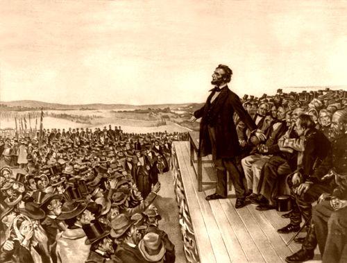 Gettysburg Address on November 19, 1863, Wherwood Lithograph, 1906