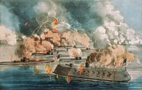 Great fight at Fort Sumter, April, 1863, by Courier & Ives.