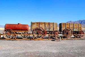 20 Mule Team Wagon, Harmony Borax Works, Death Valley, California, Kathy Weiser, 2015.