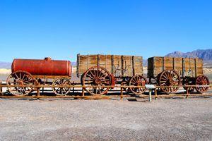 20 Mule Team Wagon, Harmony Borax Works, Death Valley, California, Kathy Weiser, 2015.