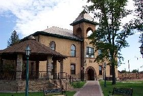 Old Navajo County Courthouse in Holbrook, Arizona