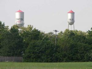 Hot and Cold Water Towers in Canton, Kansas