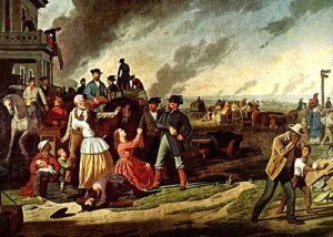 Evacuation of Missouri Counties under General Order No. 11, painting  by George Caleb Bingham, 1870.