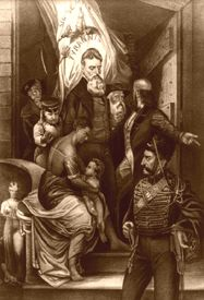 John Brown  before his execution by Currier & Ives, 1863