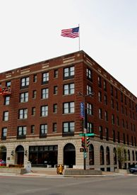 Eldridge Hotel, Lawrence, Kansas by Kathy Weiser