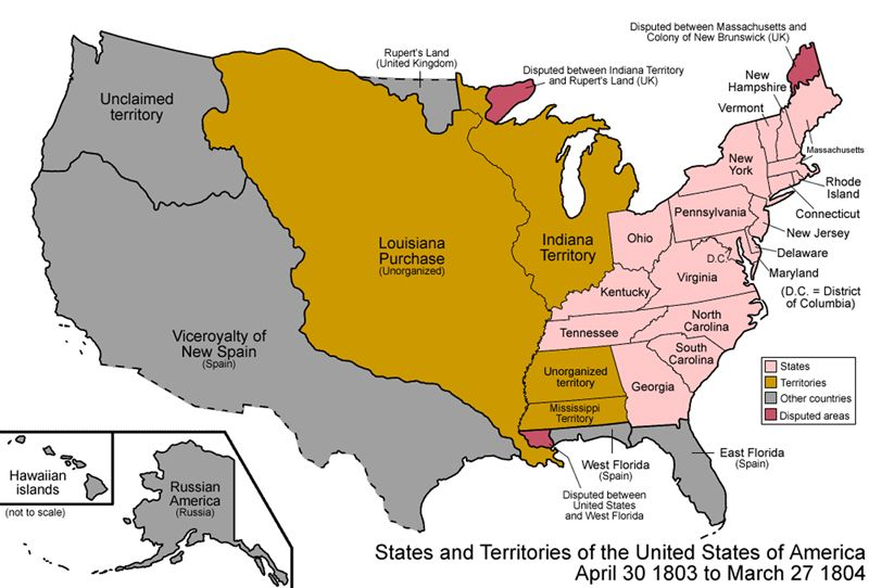 Map Of The Us After The Louisiana Purchase The Louisiana Purchase – Legends of America