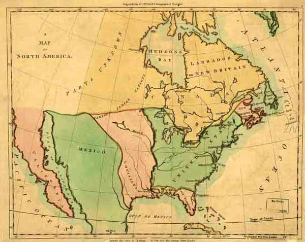 The Lousiana Purchase Historic Map