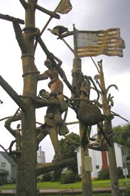 Just one of the many sculptures at the Garden of Eden in Lucas, Kansas, Kathy Weiser.