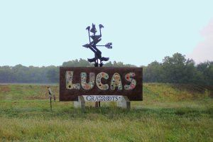 Lucas, Kansas Sign