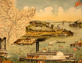 Mississippi River steamboat