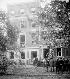 Attorney General Mitchell Palmer home after bombing