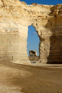 Monument Rocks Keyhole by Kathy Weiser