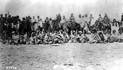 "Navajo Prisoners taking the ""Long Walk"""